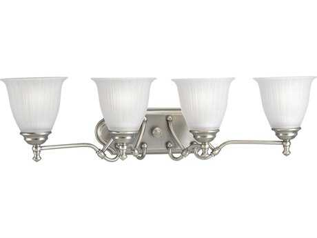 Progress Lighting Renovations Antique Nickel Four-Light Vanity Light