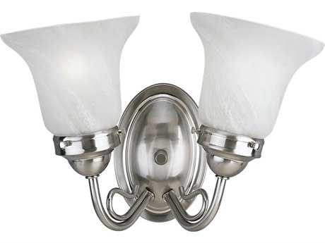 Progress Lighting Bedford Brushed Nickel Two-Light Vanity Light