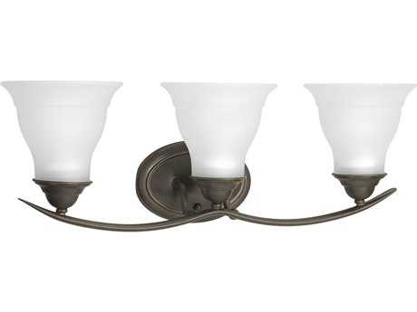 Progress Lighting Trinity Antique Bronze Three-Light Fluorescent Vanity Light