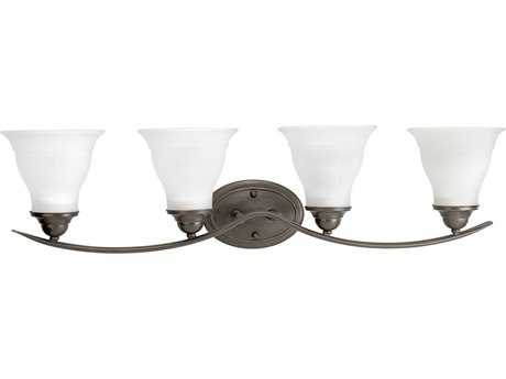 Progress Lighting Trinity Antique Bronze Four-Light Fluorescent Vanity Light