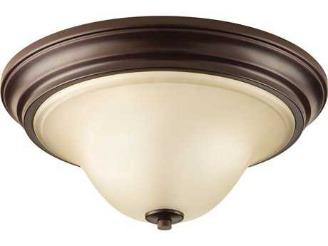 Progress Lighting Spirit Antique Bronze Two-Light Flush Mount Light (Sold in 2)
