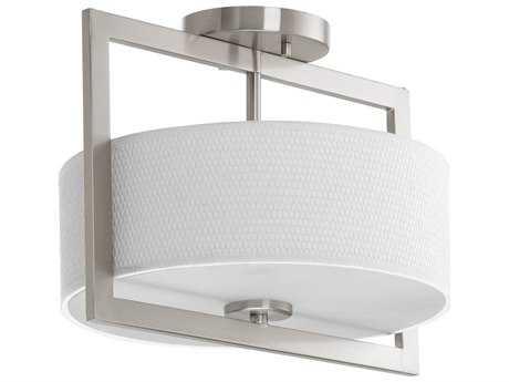 Progress Lighting Harmony Brushed Nickel Three-Light 12.5'' Wide Semi Flush Light / Pendant Light