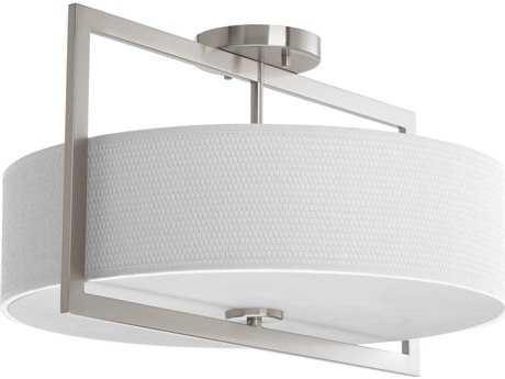Progress Lighting Harmony Brushed Nickel Three-Light 18'' Wide Semi Flush Light / Pendant Light