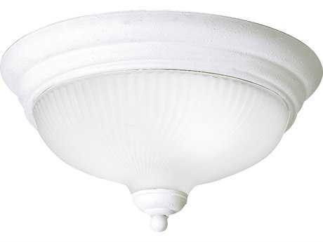 Progress Lighting Melon White Two-Light Incandescent Flush Mount Light (Sold in 2)