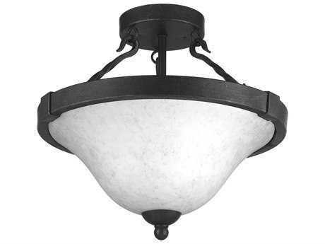 Progress Lighting Enclave Gilded Iron Three-Light 15'' Wide Semi Flush Light / Pendant Light