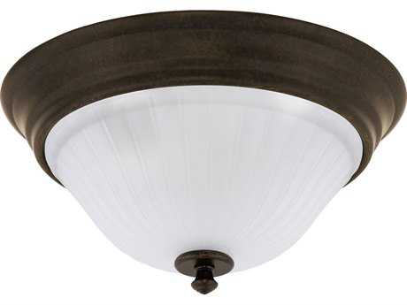 Progress Lighting Renovations Forged Bronze Two-Light Flush Mount Light (Sold in 2)