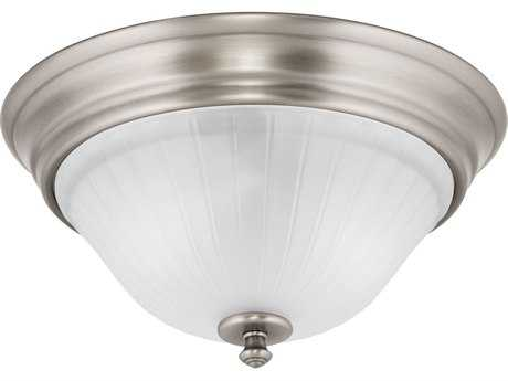 Progress Lighting Renovations Antique Nickel Two-Light Flush Mount Light (Sold in 2)