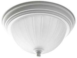 Progress Lighting Melon Glass White Flush Mount Light (Sold in 4)
