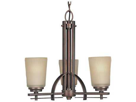 Progress Lighting Riverside Heirloom 19'' Wide Three-Light Mini-Chandelier