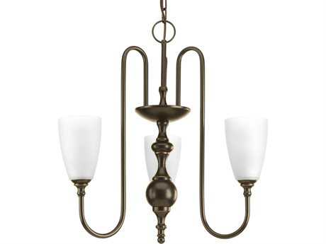 Progress Lighting Revive Antique Bronze 22'' Wide Three-Light Chandelier