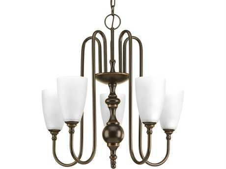 Progress Lighting Revive Antique Bronze 22'' Wide Five-Light Chandelier