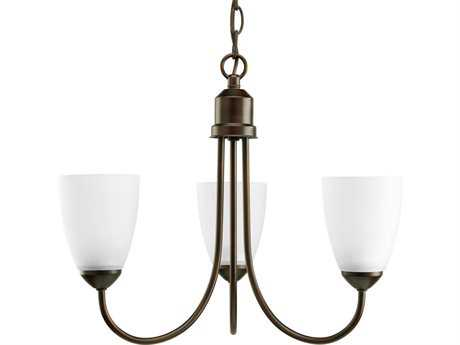 Progress Lighting Gather Antique Bronze 18.5'' Wide Three-Light Fluorescent Mini-Chandelier