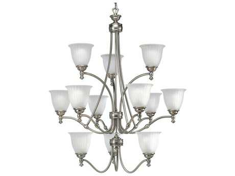 Progress Lighting Renovations Antique Nickel 33'' Wide 12-Light Chandelier