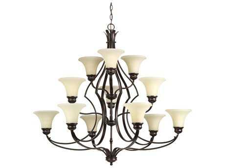 Progress Lighting Applause Antique Bronze 12-Light 42'' Wide Chandelier