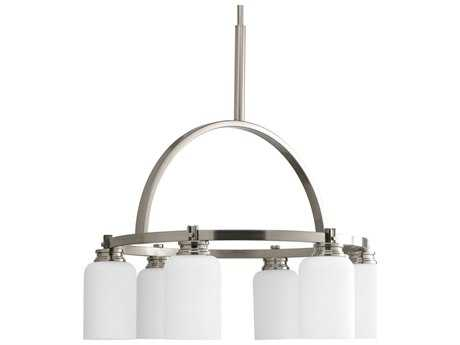 Progress Lighting Orbitz Brushed Nickel 24'' Wide Six-Light Mini-Chandelier