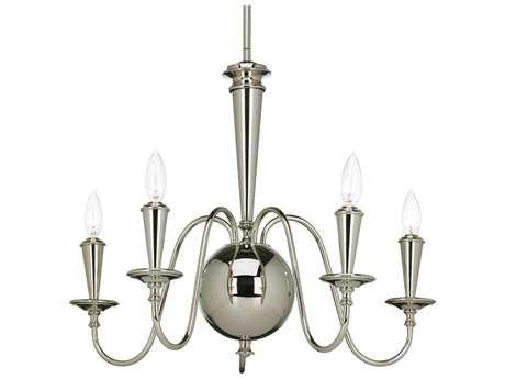 Progress Lighting Identity Polished Nickel 24'' Wide Five-Light Mini-Chandelier