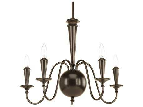 Progress Lighting Identity Antique Bronze 24'' Wide Five-Light Mini-Chandelier