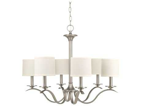 Progress Lighting Inspire Brushed Nickel Six-Light 30'' Wide Chandelier