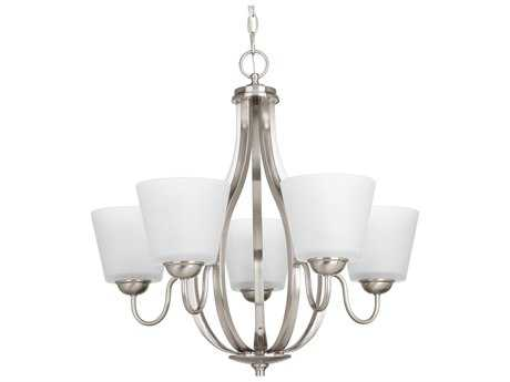 Progress Lighting Arden Brushed Nickel Five-Light 25'' Wide Chandelier