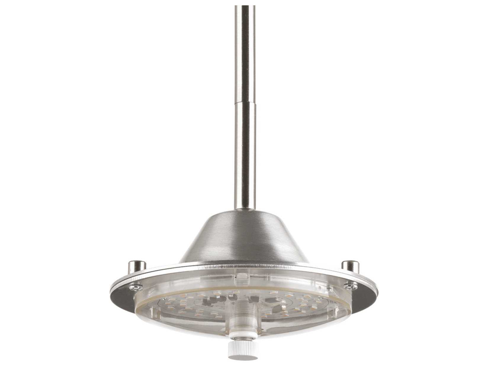 Progress Lighting Inspiration 2 Light Brushed Nickel: Progress Lighting Markor Brushed Nickel 6'' Wide LED Mini