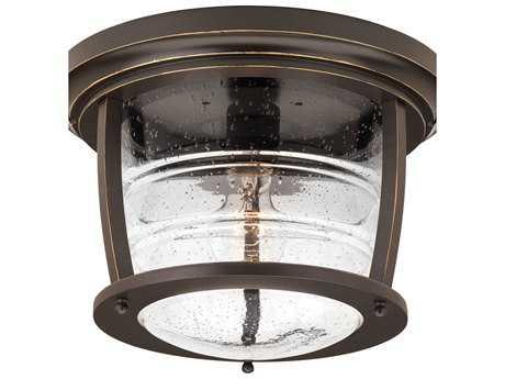 Progress Lighting Signal Bay Oil Rubbed Bronze LED Outdoor Ceiling Light