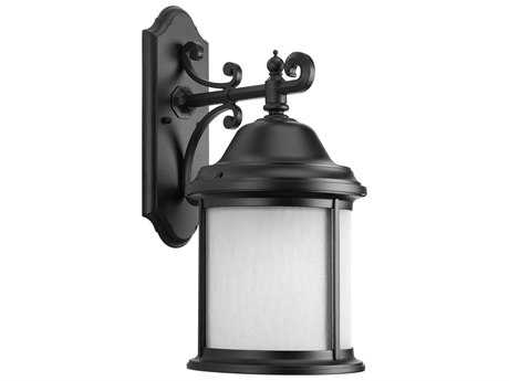 Progress Lighting Ashmore Black Large Outdoor Wall Light