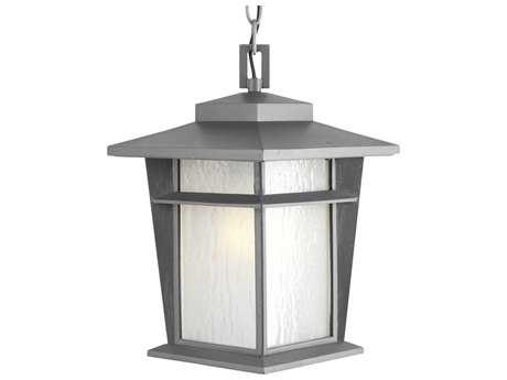 Progress Lighting Loyal Textured Graphite Outdoor Pendant Light