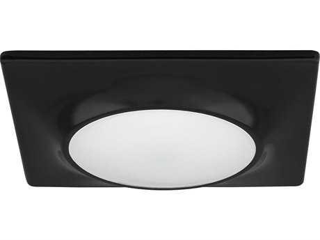 Progress Lighting Black & Diffused Glass LED Flush Mount Light (Sold in 2)