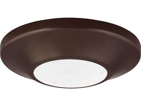 Progress Lighting Antique Bronze & Diffused Glass LED Flush Mount Light (Sold in 3)