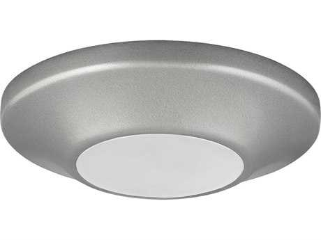 Progress Lighting Metallic Gray & Diffused Glass LED Flush Mount Light (Sold in 3)
