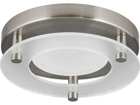 Progress Lighting Brushed Nickel & Diffused Glass LED Flush Mount Light (Sold in 2)