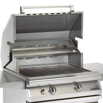 PGS Grills Legacy Newport Gourmet 30'' Propane BBQ Grill with Rear Burner and Rotisserie