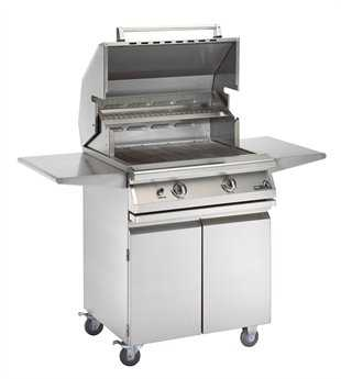 PGS Grills Legacy Newport Gourmet 30'' On-Cart Natural Gas BBQ Grill with Rear Burner and Rotisserie
