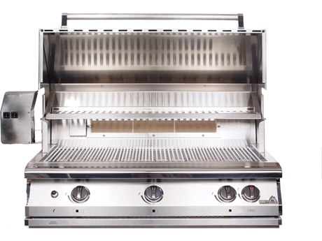 PGS Grills Legacy Pacifica Gourmet 39'' Natural Gas BBQ Grill with Rear Burner and Rotisserie