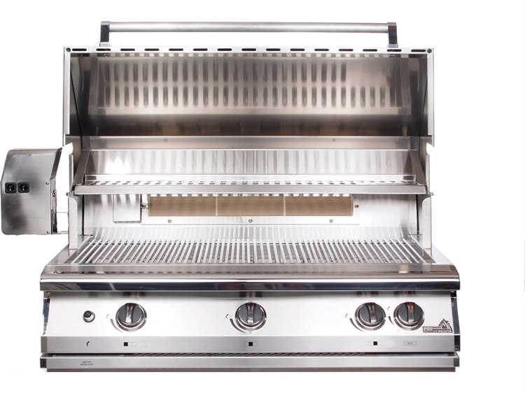 PGS Grills Legacy Pacifica Gourmet 39'' Natural Gas BBQ Grill with Infrared Rotisserie Burner