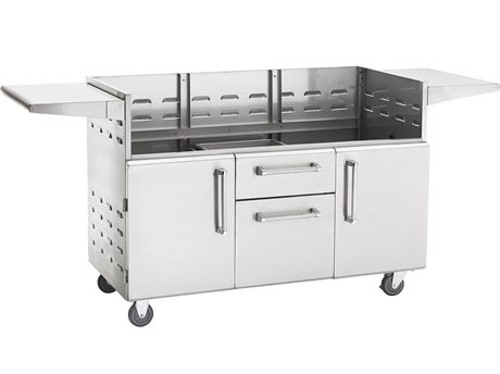 PGS Grills Legacy Stainless Steel Portable Cart for Big Sur Grills PGS48CART