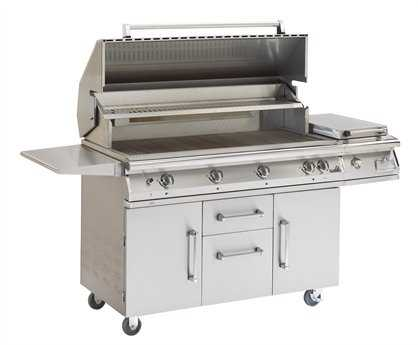 PGS Grills Legacy Big Sur Gourmet 51'' On-Cart Propane BBQ Grill with Rear Burner and Rotisserie