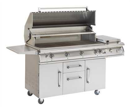 PGS Grills Legacy Big Sur Gourmet 51'' On-Cart Natural Gas BBQ Grill with Rear Burner and Rotisserie