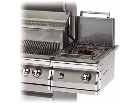 PGS Grills Legacy Natural Gas Stainless Steel Single Side Burner for Freestanding Grills