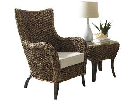 Panama Jack Sanibel Wicker Lounge Chair & End Table Set