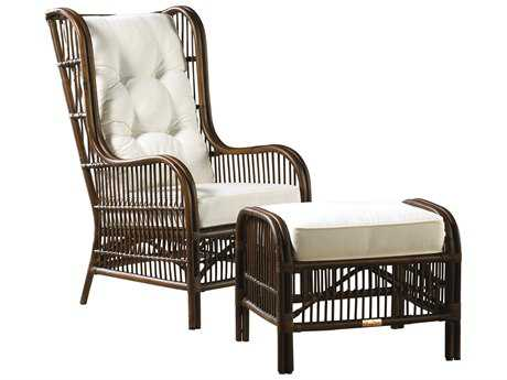 Panama Jack Bora Bora Wicker Occasional Chair & Ottoman Set