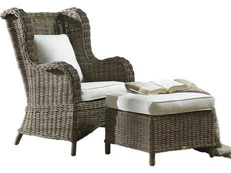 Panama Jack Exuma Wicker Occasional Chair & Ottoman Set