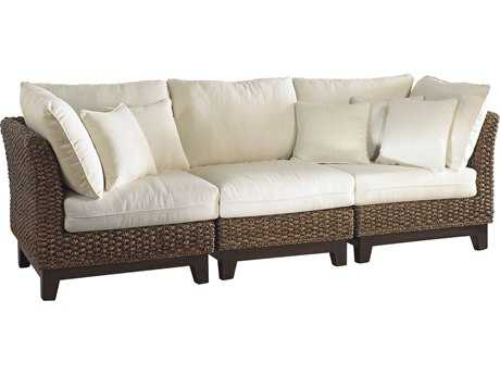 Panama Jack Sanibel Wicker Sofa PJ3PCPJS1001S