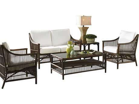 Panama Jack Bora Bora Wicker 5 Piece Lounge Set