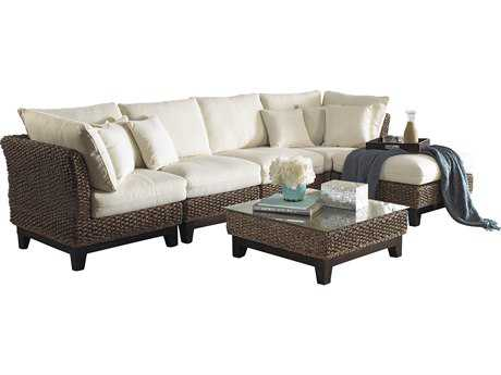 Panama Jack Sanibel Wicker 6 Piece Lounge Set