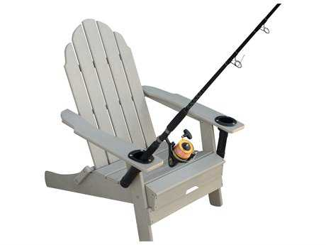 Panama Jack Hydra Shade Resin Anglers Folding Adirondack Chair w/cup & rod holders