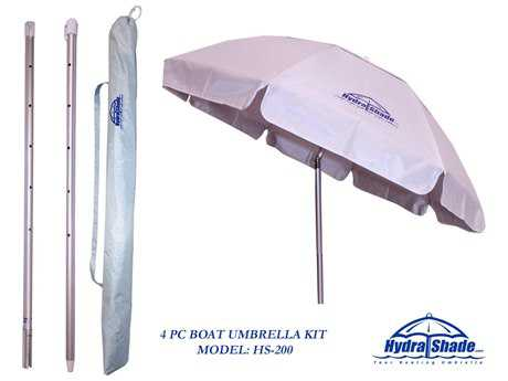 Panama Jack Hydra Shade 6' Round Boating & Beach Umbrella  4 Pc Kit