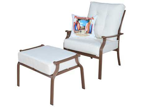 Panama Jack Island Breeze Aluminum Espresso Two Piece Lounge Set