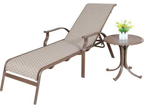 Panama Jack Island Breeze Aluminum Two Piece Sling Lounge Set