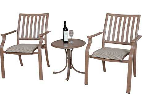 Panama Jack Island Breeze Aluminum Three Piece Slatted Balcony Set